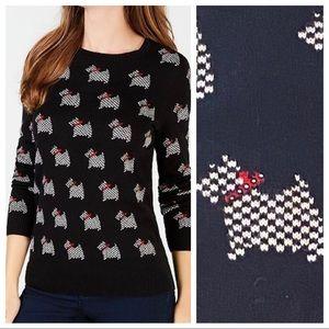 NWT Charter Club Scottie Dog Sweater